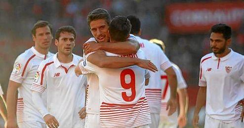 Carriço celebra uno de los goles con Gameiro.