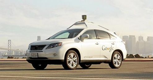 Imagen del coche sin conductor de Google.