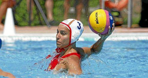 Anni Espar, en un partido de la selección española