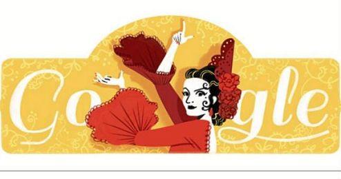 Imagen del �doodle� publicado hoy por Google.