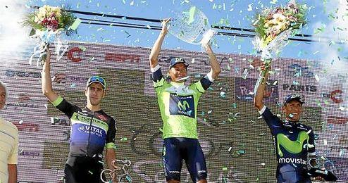 El equipo español celebrando la conquista.