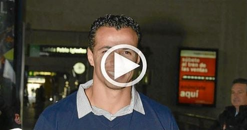 El brasile�o Leandro Damiao, a su llegada a Santa Justa.