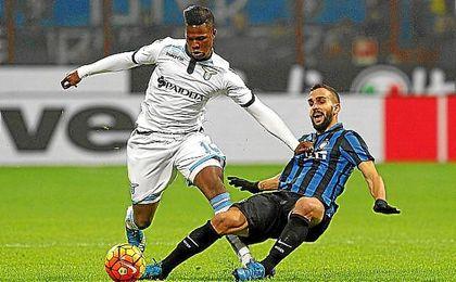 Montoya, en el partido ante la Lazio.