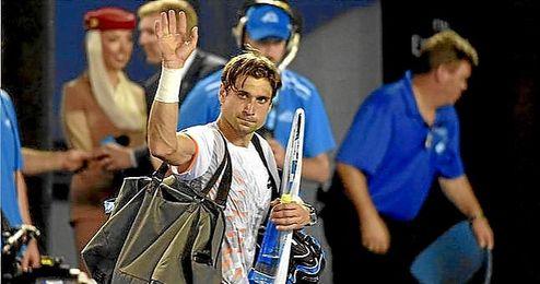 Ferrer se despide del público australiano tras caer ante Murray.