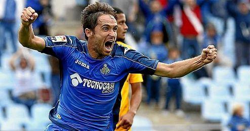 El reciente fichaje del Real Oviedo, Míchel, en su etapa en el Getafe.