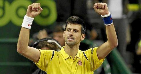 En la imagen, Novak Djokovic celebrando una victoria conseguida.