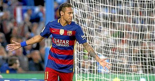 Neymar Jr, celebrando un gol con el FC Barcelona.