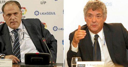 El organismo que preside Tebas ha criticado al que preside Villar.