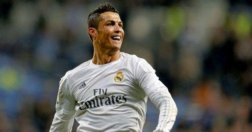 Ronaldo celebra uno de los goles que anot� ante el Espanyol.