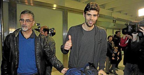 Fazio, a su llegada a Sevilla el pasado domingo.
