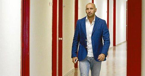 Monchi, durante una entrevista con ESTADIO Deportivo en el S�nchez Pizju�n.