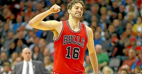 Pau Gasol, durante un partido con Chicago Bulls.