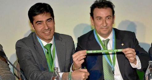 Haro y López Catalán, en la pasad junta de accionistas.