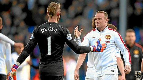 Rooney y De Gea al final del partido.