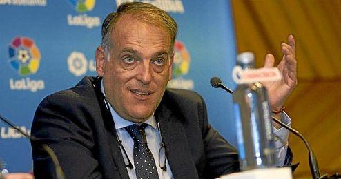 Javier Tebas espera que la final de Copa se juegue en el Bernabéu.