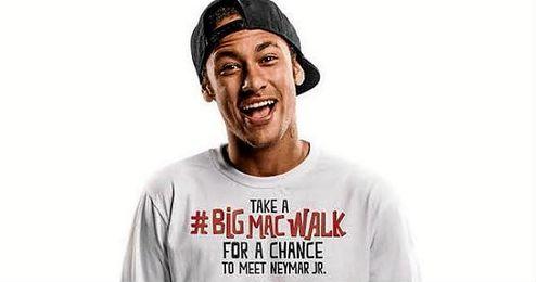Imagen de la campaña publicitaria de Neymar y la marca McDonald´s.