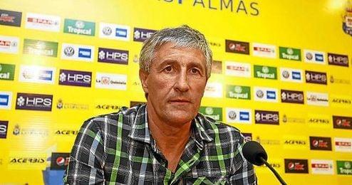 Quique Seti�n, entrenador de Las Palmas.