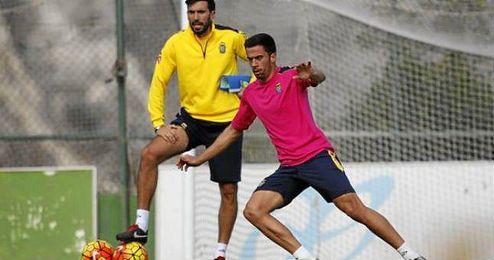 Imagen de Hernan Santan durante un entrenamiento.