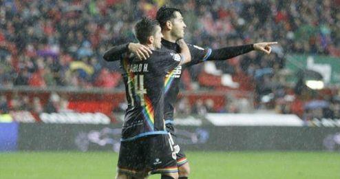 La buena racha goleadora de Miku se une a la que también está teniendo su compatriota Juanpi Añor.