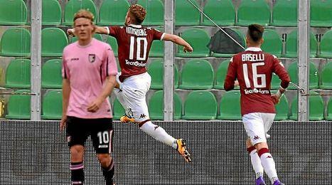 Immobile celebra uno de sus goles con el Torino.