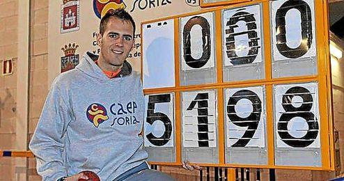 Diego Barranco, en las instalaciones del CAEP Soria.