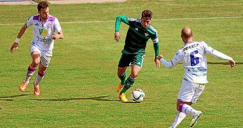 De la Hoz, en el partido ante el Real Jaén.