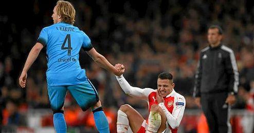Imagen del encuentro de Champions entre el Arsenal y el Bayern.
