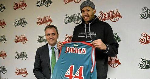 Jerome Jordan, en su presentaci�n con el CB Sevilla.