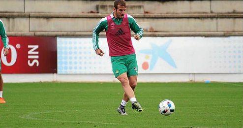 Rafael van der Vaart, durante un entrenamiento.