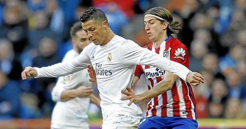 Ronaldo en una acción del choque.
