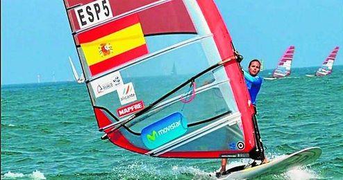 La hispalense Marina Alabau se qued� finalmente lejos del podio en aguas de Eliat.