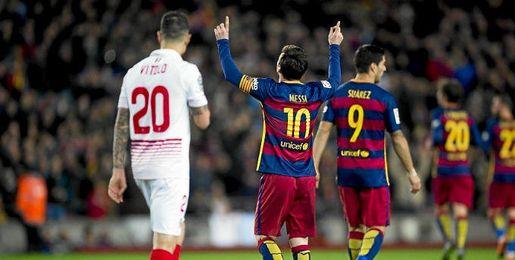 Messi volvió a ver puerta ante el Sevilla.