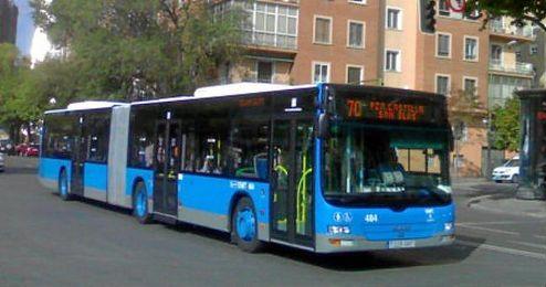 En la imagen, un autobús en Madrid.