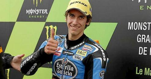 En la imagen, el piloto español de Moto2, Alex Rins.
