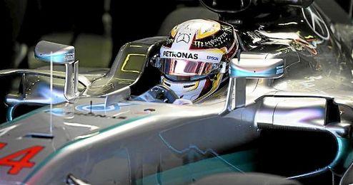 Lewis Hamilton, el más rápido de la sesión.