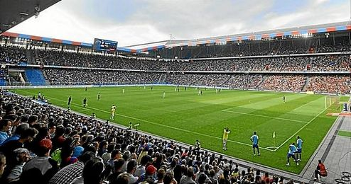 Imagen del St. Jakob Park Stadium de Basilea.