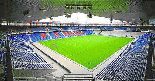 El St. Jakob Park, estadio del Basilea y que albergará la final de la Europa League.