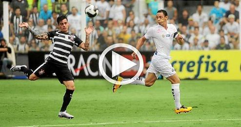Oliveira, en el derbi contra Corinthians.
