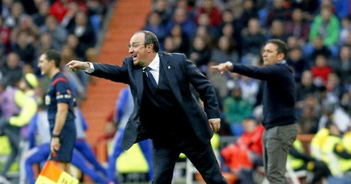 Rafa Benitez, durante su estancia en Madrid.