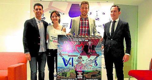 Jos� Mar�a Merch�n, Almudena Rodr�guez, Samer Ali-Saad y Luis L�pez de Castro presentaron el Duatl�n de Sevilla.