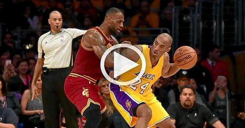LeBron James Y Kobe Bryant, durante el partido.