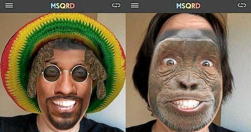 Imagen de Masquerade, la aplicaci�n recientemente adquirida por Facebook.