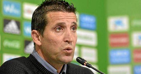 El entrenador del Betis, en sala de prensa.