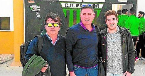 Blanco, Ramírez y Navarro, el cuerpo técnico pedrereño.