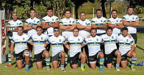Imagen de la plantilla del equipo de rugby argentino, Los Cedros.