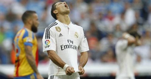 Chicharito durante su etapa en el Real Madrid.