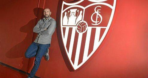 Monchi posa para ESTADIO Deportivo durante su entrevista.