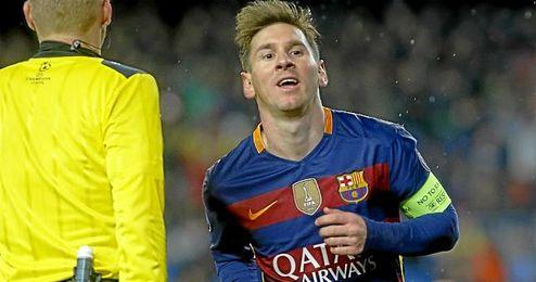 Messi, ayer durante el partido ante el Arsenal