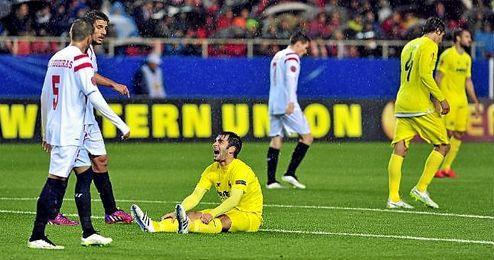 Partido de vuelta de octavos de la Europa League 14-15 entre el Sevilla y el Villarreal.