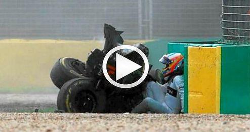 Por fortuna, ambos pilotos se encuentran bien, pero el accidente motivó, la entrada del ´safety car´.